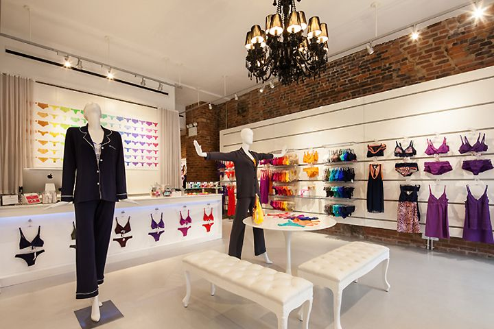 Cosabella store by Turett Collaborative Architects, New York City lingerie fashion