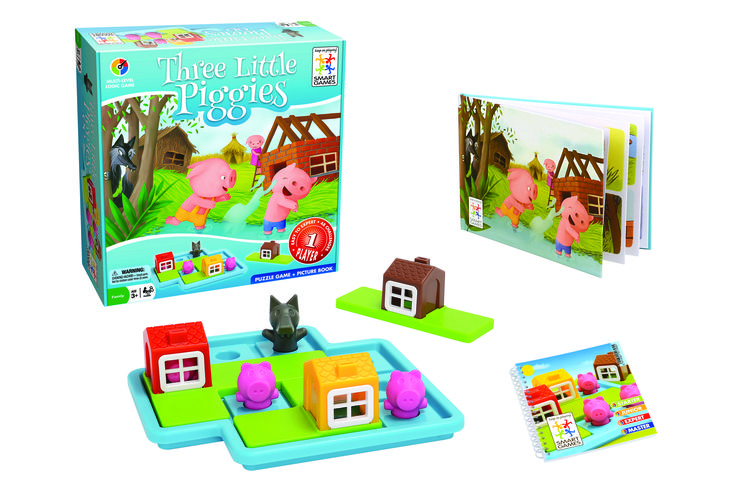 The Three Little Piggies game from @smartgamesusa was one of a few games selected by San Diego Family Magazine for their Kid-Tested Fun Family Board Games: Family Board Games. Get the family together for game night with these fun family games.
