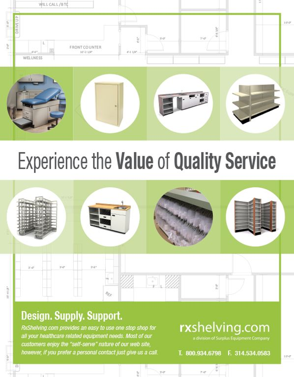 RxShelving.com provides an easy to use one stop shop for all your healthcare related equipment needs (As seen in the 2016 Pharmacy Platinum Pages Buyer's Guide: rxplatinumpages.com).
