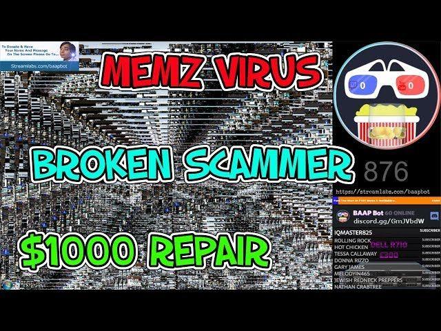 Memz Virus = Broken Scammer ! | Tech Support Scams | Tech