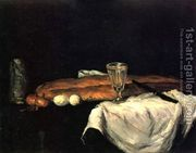 Still Life With Bread And Eggs  by Paul Cezanne