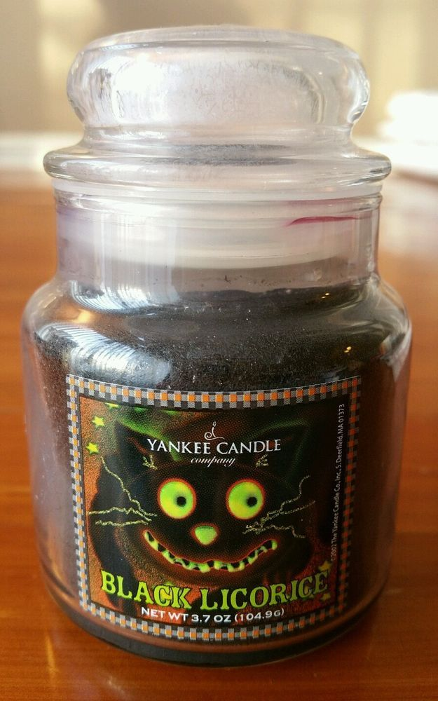 NEW EXTRA RARE YANKEE CANDLE 3.7 BLACK LICORICE Jar Candle RARE CHESHIRE CAT! #YankeeCandle