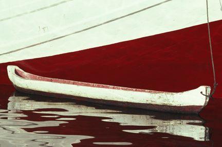A dugout canoe moored along side a Macassar schooner, Jakarta, Java, Indonesia. Buy this print now! http://www.davidryanphotography.com/Travel/i-HG8NG8b