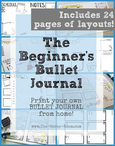 The Beginner's Bullet Journal - Printable Templates - Daily, Weekly, Monthly, and 31 Day Challenge Instant Downloads   £5.64 VAT Included #affiliate #bulletjournal #bulletjournaling