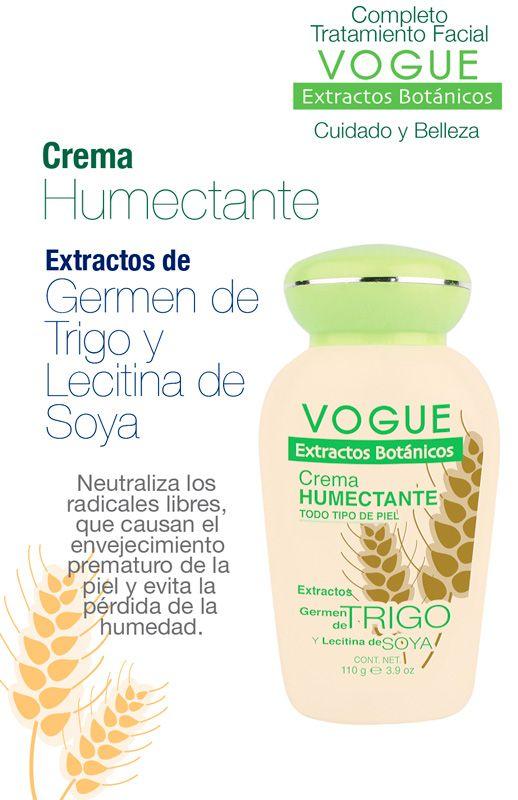 Crema Humectante con Extracto de Germen de Trigo de VOGUE Extractos Botánicos