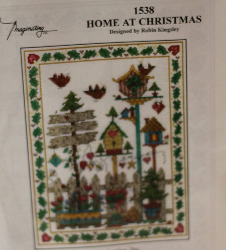 Bucilla counted cross stitch kit 83397 Christmas Picture Free USA Shipping! by SallysGreatFinds on Etsy