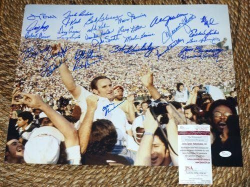"""1972 MIAMI DOLPHINS """"17-0"""" Team Signed 16x20 / 29 autos, Csonka Griese SHULA   - Autographed NFL Photos ** Want additional info? Click on the image."""