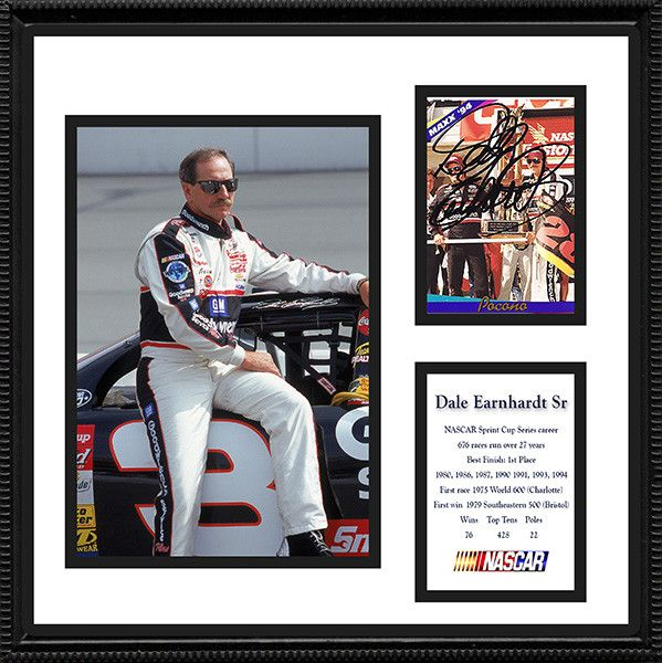 Framed and Matted NASCAR Dale Earnhardt Signed Autograph and Photo
