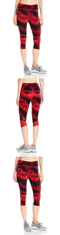 Adidas Women's Running Supernova 3/4 Tights, Large, Ray Red