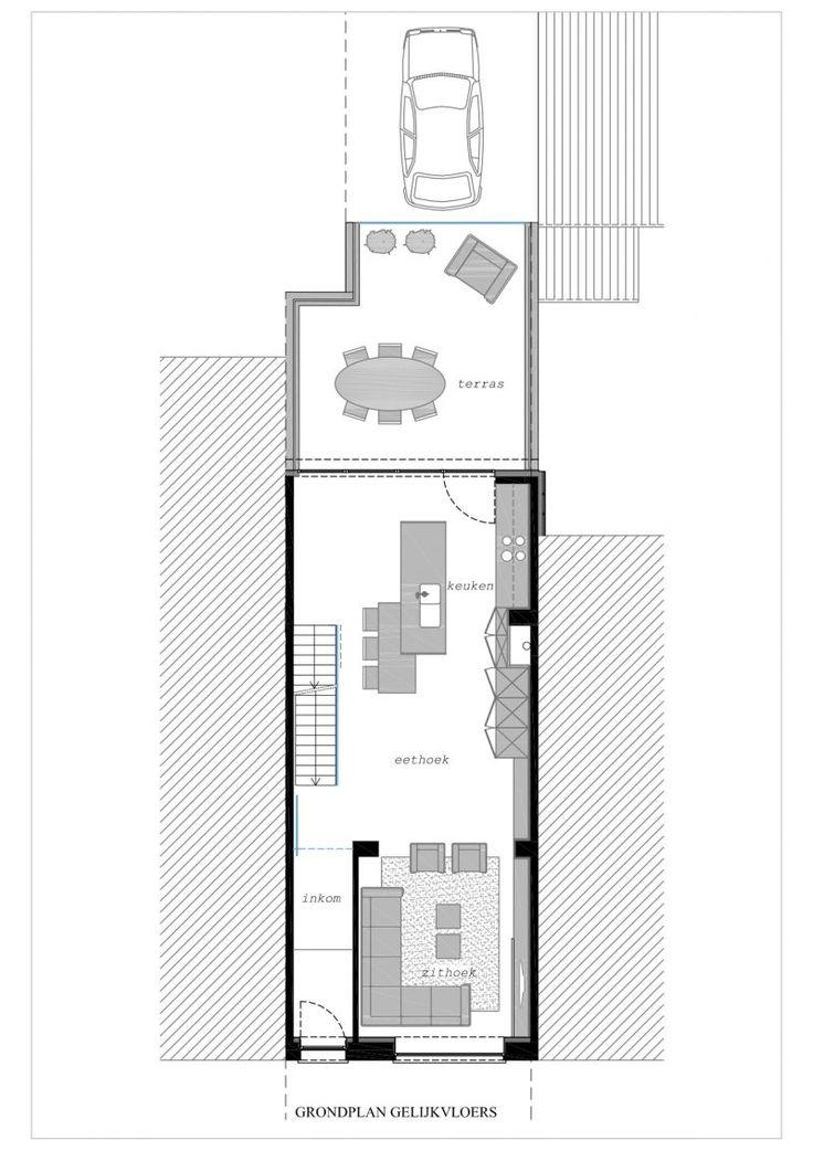 25 beste idee n over smal huis op pinterest moderne for Grondplan badkamer