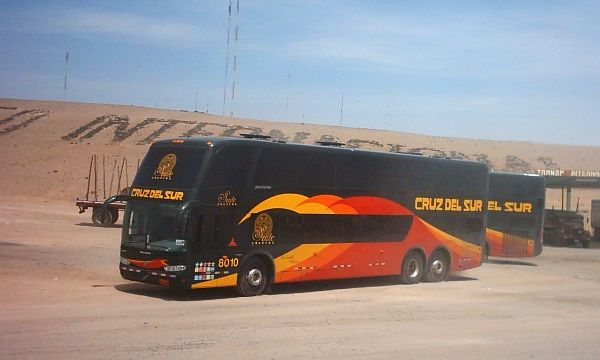 Traveling by bus in Peru / Cruz del Sur