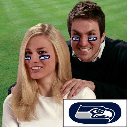 Seattle Seahawks NFL Eyeblack Strips (6 Each)
