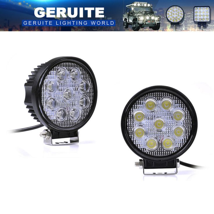 10pcs 27W LED Work Light 30 Degree High Power LED Offroad Light Round Off Road LED Work Light Spot Light For Boating Hunting. Yesterday's price: US $99.99 (81.69 EUR). Today's price: US $68.99 (55.99 EUR). Discount: 31%.
