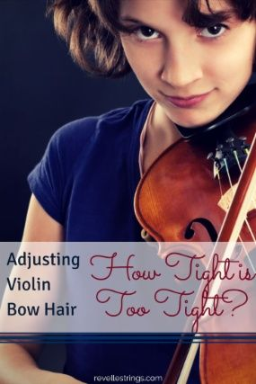 Adjusting violin bow hair - how tight is too tight http://www.connollymusic.com/revelle/blog/adjusting-violin-bow-hair-how-tight-is-too-tight @revellestrings