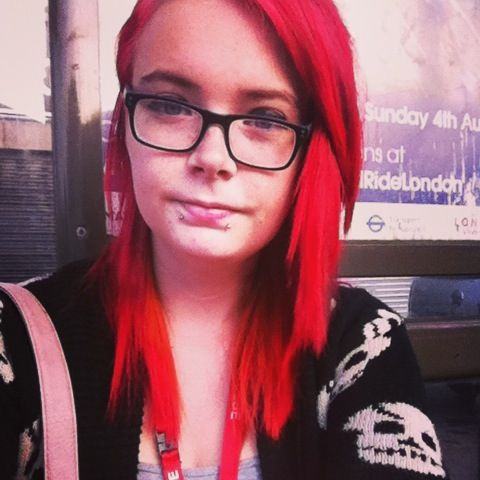 On my way to college red head! ^^
