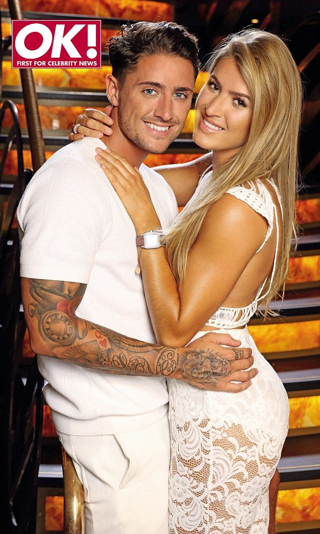 Loved up: Stephen Bear and his new girlfriend Lillie Lexie Gregg have plenty to say about their romances with Vicky Pattison and Gary Beadle respectively