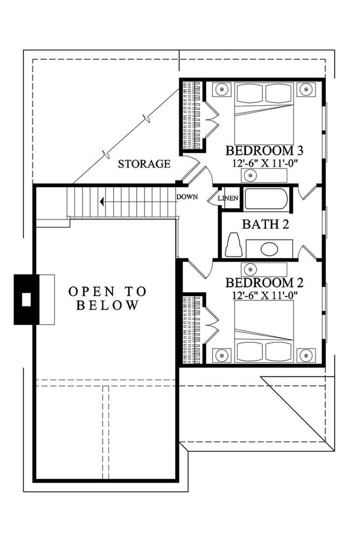 23 best house plans images on pinterest square feet dream house houseplans com cottage upper floor plan plan 137 272