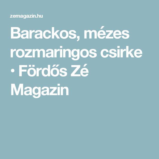 Barackos, mézes rozmaringos csirke • Fördős Zé Magazin