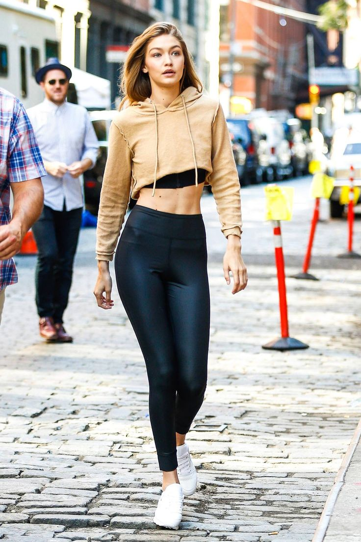 Gigi Hadid Proves That Athleisure Is Alive and Well and Here to Stay.  Cropped Leggings OutfitCrop
