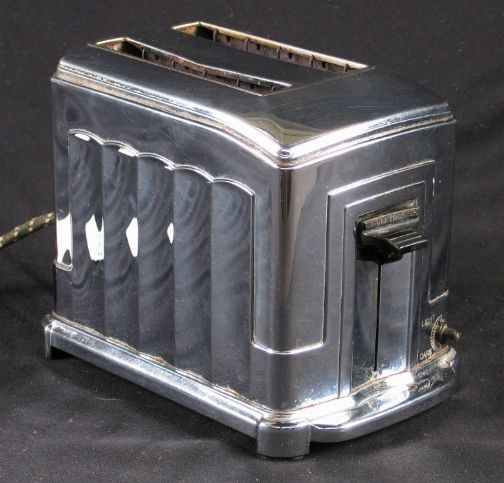 Art Deco Toaster, Toastmaster, Mfd by McGraw Electric Co., Waters-Genter Div. Mpls Minn, ca. 1930's.