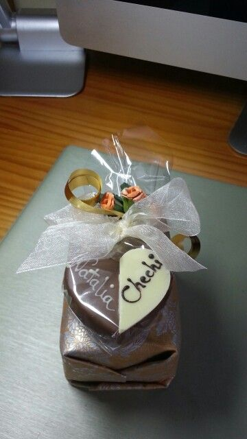 Gift with chocolate