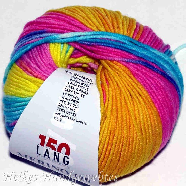 Merino 120 Color Gelb-Orange-Pink-Türkis Lang Yarns