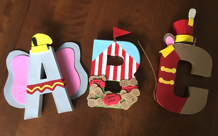 Dumbo Custom 8 inch paper mache letters by TheNevertreeHideaway