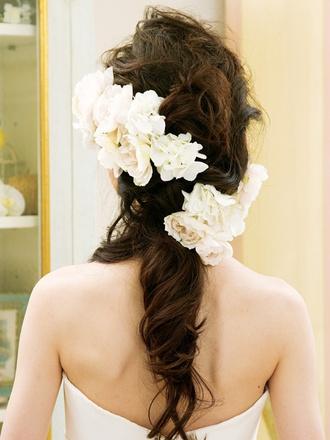 Japanese style bridal hair