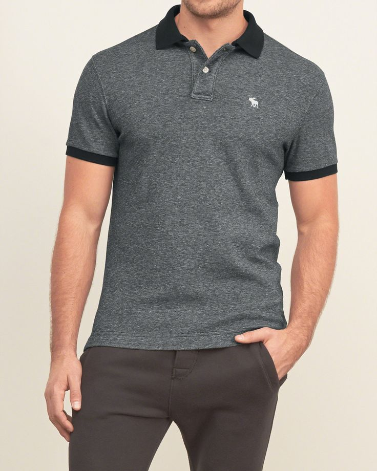 Mens Iconic Pique Polo | Mens New Arrivals | eu.Abercrombie.com