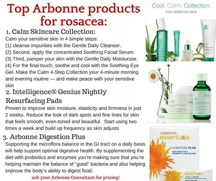 Top Arbonne products for ROSACEA!! Contact me for more information! www.crystalfisher.arbonne.com