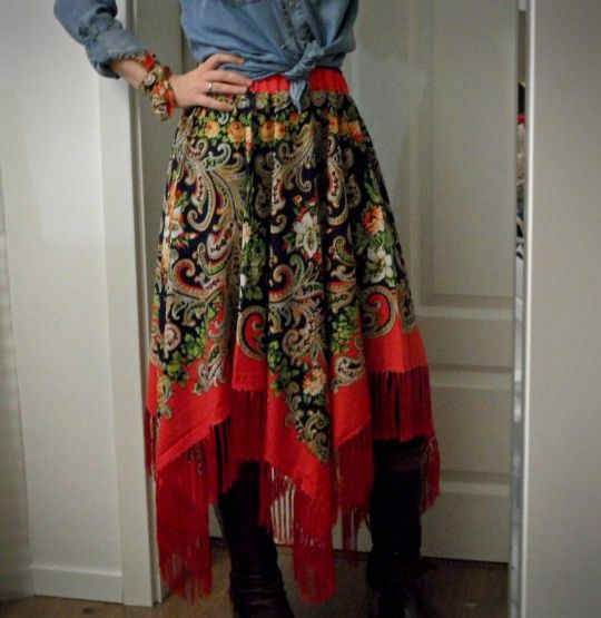 Spódnica z chusty