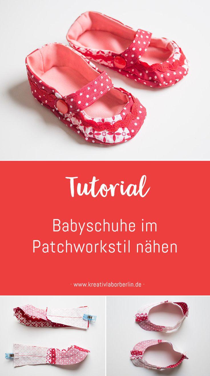Babyschuhe im Patchworkstil nähen