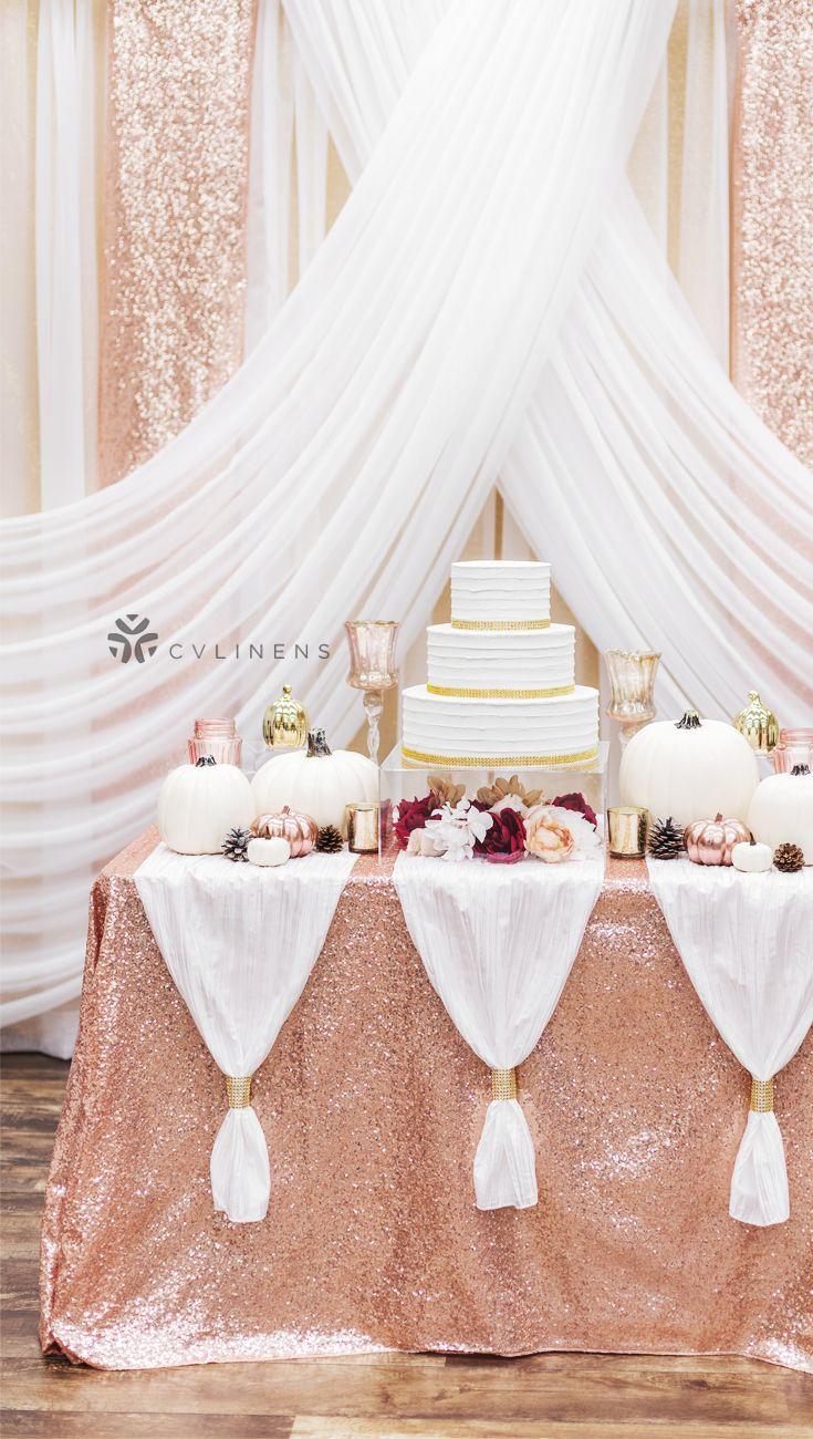 Glitz Sequin 90 X132 Rectangular Tablecloth Blush Rose Gold Fun Wedding Decor Rose Gold Bridal Shower Wedding Decor Elegant