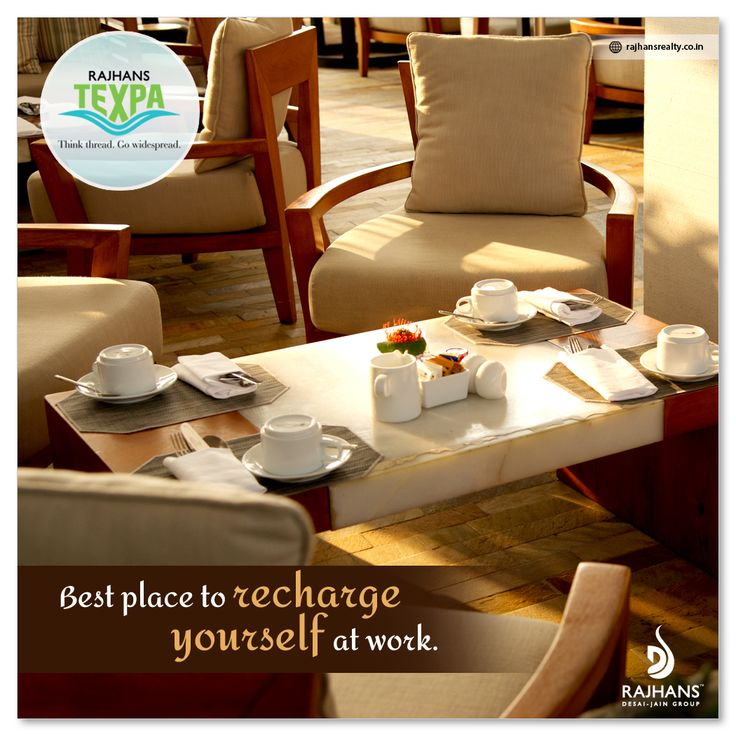 Best place to recharge yourself at work. #RajhansTexpa #RajhansRealEstate #Surat
