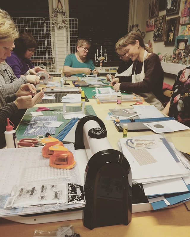 #kirstenhyde kurs på #hobbykunst #hobbykunstnorge i kveld