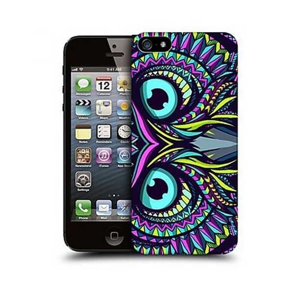 Artistic Colorful Owl Design Back Case for Iphone 5/5s #ChinaBrand