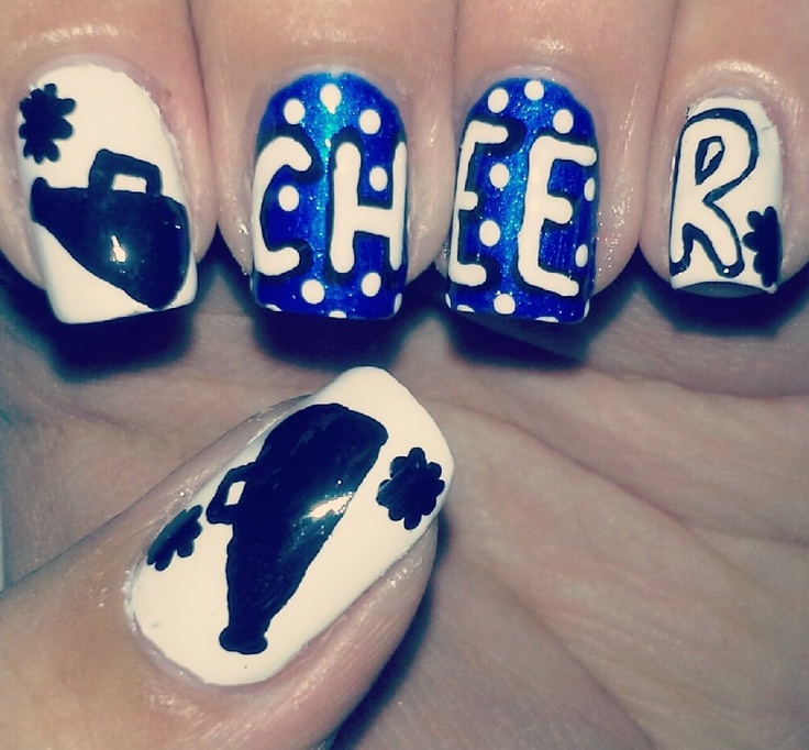 Cheerleader Nails!i needs these in red white and black