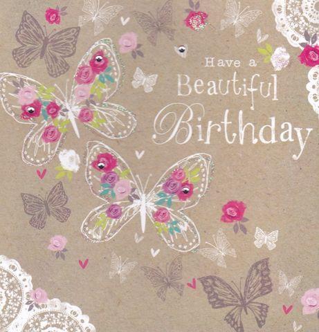 Beautiful,Birthday,Butterflies,Card,buy birthday cards online, female birthday card, birthday card for her, butterfly birthday card, butterf...