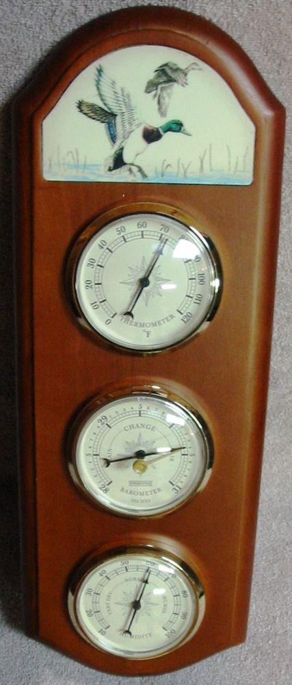 #weather #atmosphere #WeatherGauges # plaque #WoodPlaque #WallPlaque #temperature #thermometer #AirPressure #barometer #humidity #hygrometer #decor #eclectic #eBay #shopping
