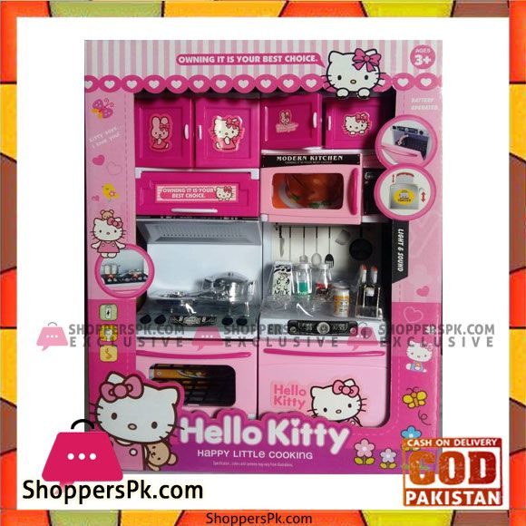 Buy Hello Kitty Battery Operated Modular Kitchen Set For Kids At
