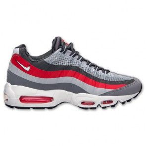 Nike Air Max 95 No Sew Men's Shoes Wolf Grey/Cool Grey/University Red