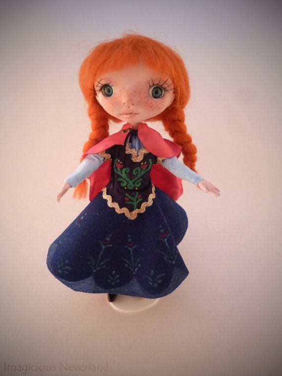 Handmade OOAK poseable art doll polymer clay cute by 0TheNeverland