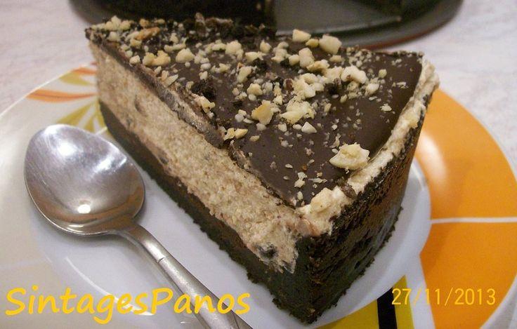 Τάρτα oreo, με φυστικοβούτυρο και σοκολάτα