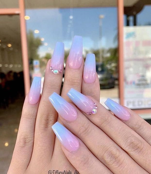 Bath And Body Gender Reveal Nails Ideas Gender Reveal Nails Ideas Lil Peep Nails Ideas In 2020 Gender Reveal Nails Summer Acrylic Nails Pretty Acrylic Nails