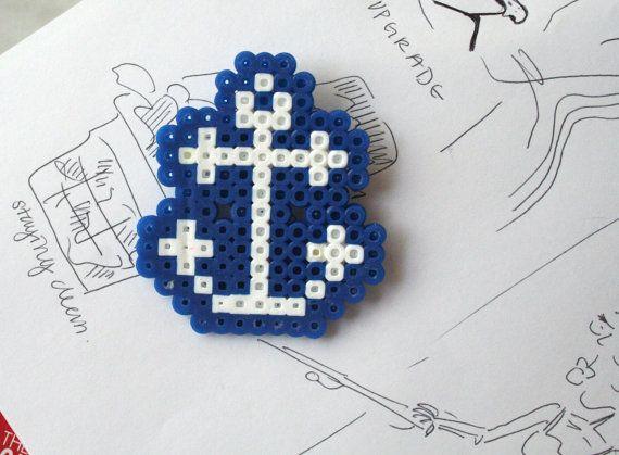 Sailor's Anchor - Hama Pin. $3.00, via Etsy.