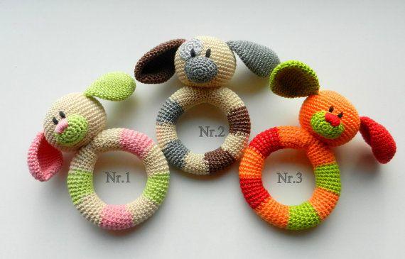 VENTA juguete Sonajero dentición bebé toy por MioLBoutique en Etsy