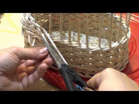 How to weave a baby carriage. Part 1.2. Body. - YouTube