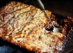 Fresh pasta beef lasagne with chargrilled zucchini and pancetta ... but I will substitute Adell's Spicy Chicken Sausage www.aidells.com