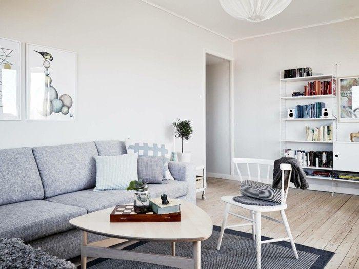 Scandinavian Living Room Set Up Grey Carpet