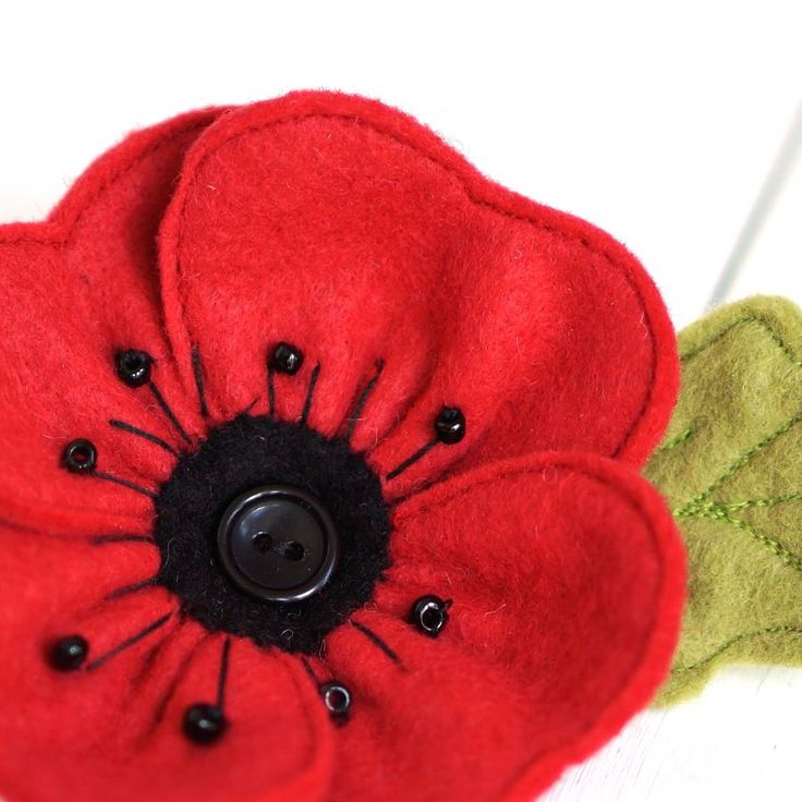 handmade red felt poppy brooch by rosiebull designs | notonthehighstreet.com                                                                                                                                                                                 More